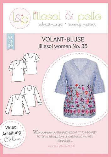 lillesol & pelle Schnittmuster lillesol Women No.35 Volant-Bluse in Größe 34-50 zum Nähen mit Foto-Anleitung und Video