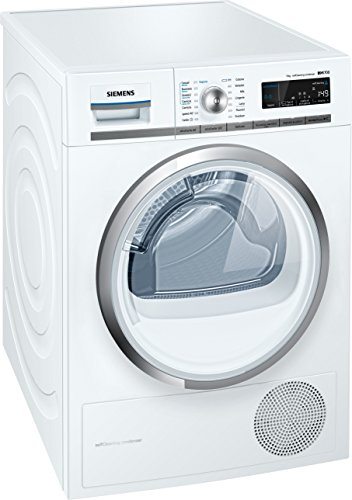 Siemens WT45W5R9IT Libera installazione Carica frontale 9kg A++ Bianco asciugatrice