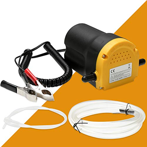 Wolketon Ölabsaugpumpe 12V | 60 Watt | 4l/min - Ölpumpe Absaugpumpe Pumpe Dieselpumpe Öl elektrisch