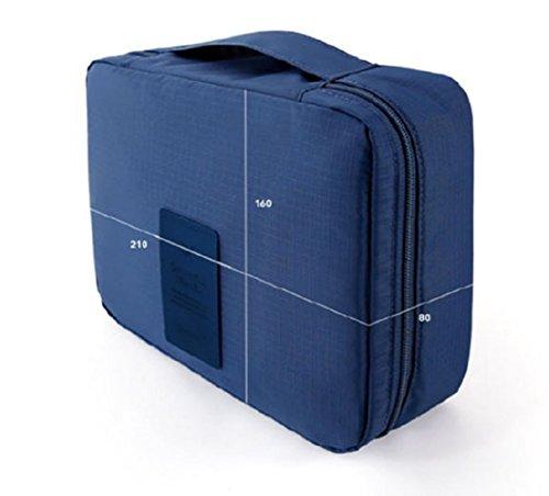 NOVAGO Trousse de Toilette Maquillage Compact et léger(Bleu Foncé)