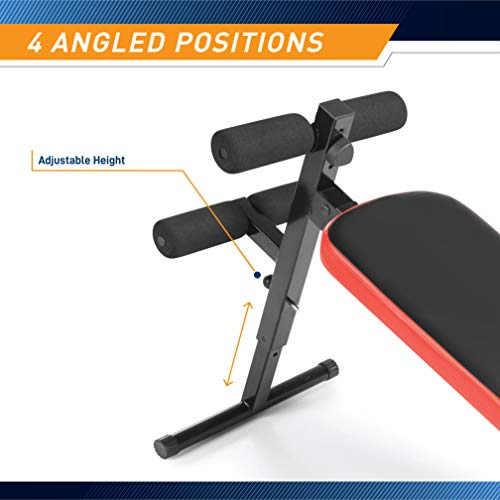 Marcy Utility Slant Board w/ Headrest – Folding Design with Adjustable Positions SB-4606