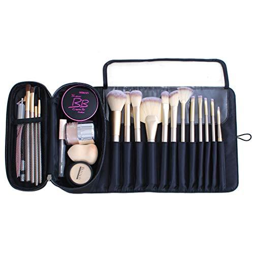 ONEGenug Multifunktionale Aufbewahrungstasche für Make-up-Pinsel - Kosmetiktasche mit 12 Taschen Bürstenhalter Kosmetik Handtasche Reiseveranstalter