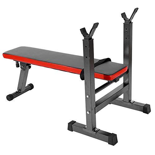 GYFHMY Höjdställbar tyngdbänk – styrketräning med flera funktioner Sitter på sängen – ben-, arm-, höftträning, enkel att sätta ihop för gymnastikövningar i hemmet
