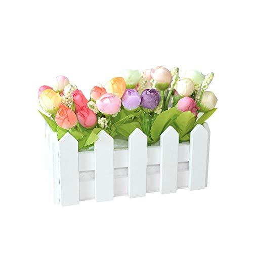 display08 1 ensemble de clôture en bois blanc pour décoration de maison, jardin, porche couleurs mixtes