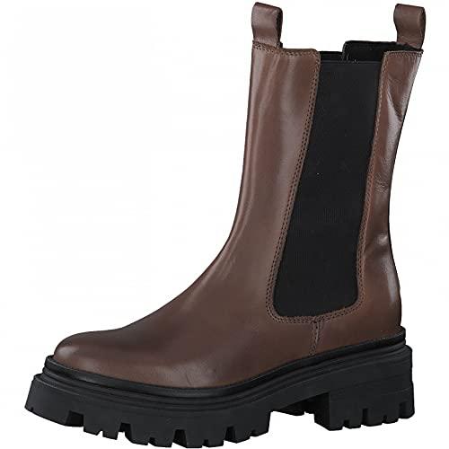 Tamaris Damen Stiefel, Frauen Klassische Stiefel,lose Einlage,Comfort Lining,Winterschuhe,uebergangsstiefel,Cognac Leather,36 EU / 3.5 UK