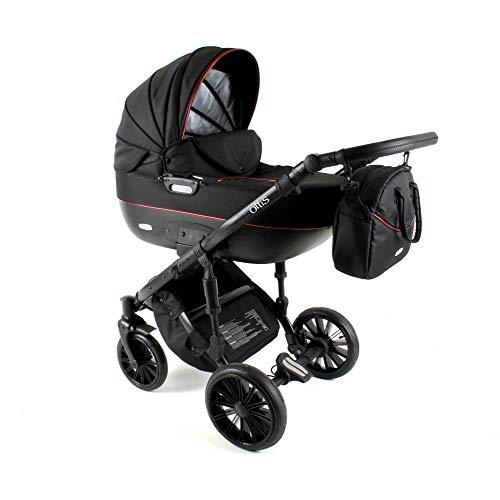 Kinderwagen 3in1 2in1 Set Isofix Buggy Babywanne Autositz Ottis B2 by SaintBaby Black OBI-01 4in1 Autositz +Isofix