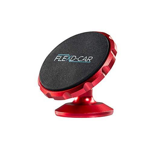 FLEXD-X Auto Handyhalterung Magnet Stark Handyhalter fürs Auto magnetisch Smartphone Halterung im Set KFZ360° (Rot)
