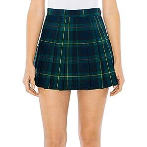 American Apparel Women's Plaid Tennis Skirt