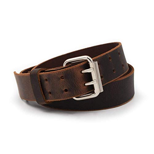 Double Down Leather Belt | Made in USA | Brown...