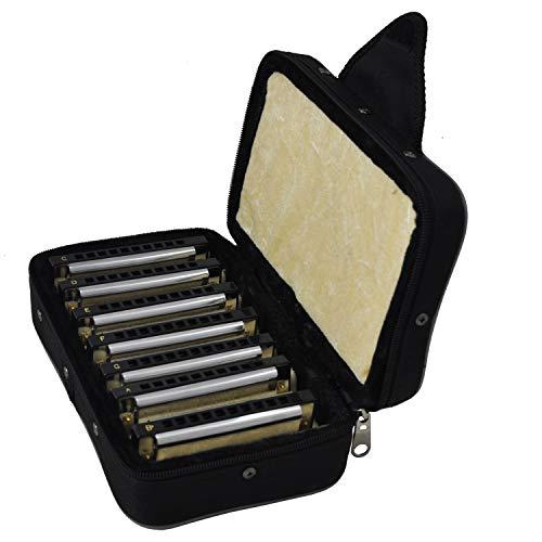 Tuyama® Set 7 x Armonica a Bocca / Mouth Harps - Valigia Robusta - Tonalite Diatonice diverse: Do-Re-Mi-Fa-Sol-La-Si bemolle Maggiore - Blues Harps / Mouth Organs