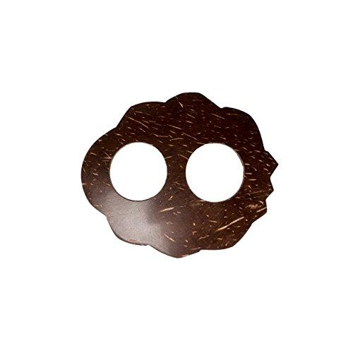Sarongschnalle Pareo Wickel Rock Schnalle Spange Schliesse aus Kokos zum Sarong binden Vintage Retro