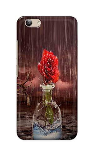SRRLCases Rose in Rain Water Hard Printed Designer Case for Vivo Y53 Back Cover PSR1871