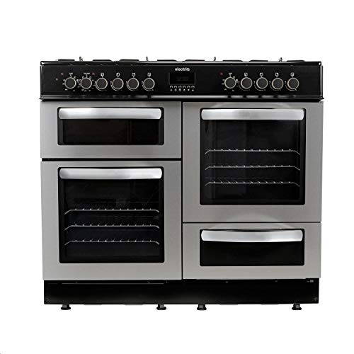 electriQ Range Cooker 100cm Dual Fuel - Stainless Steel