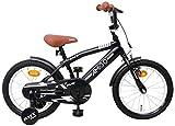 BMX Fun - Kinderfahrrad - 16 Zoll - Jungen - mit Rücktritt und Stützräder - ab 4 Jahre - Schwarz
