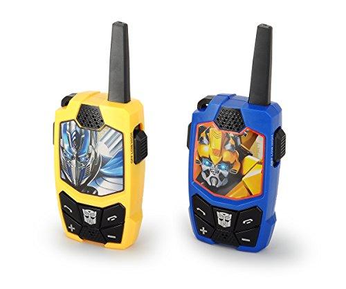 Dickie Toys 203113013 - Transformers M5 Walkie Talkie, Bumblebee und Optimus Prime, Funkgerät mit Geräuschunterdrückung, 200m Reichweite, 15cm