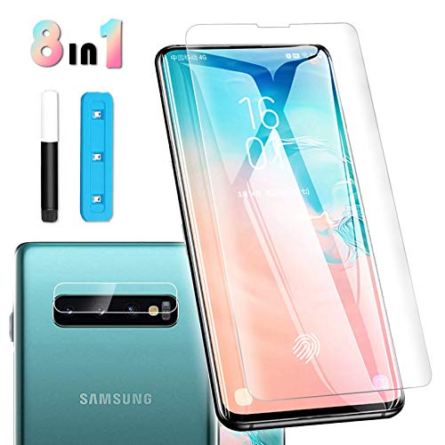 Tempered Glass Screen Protector for Galaxy S10 Plus[6.4'], Touch Responsive, Include a Camera Lens Protector and Installation Tools[Case Friendly][Full Coverage][HD Clear]