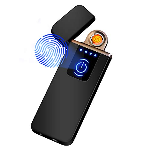 Auratrio Y08 Encendedor Eléctrico, Mechero Recargable USB, Pantalla Táctil, a Prueba de...