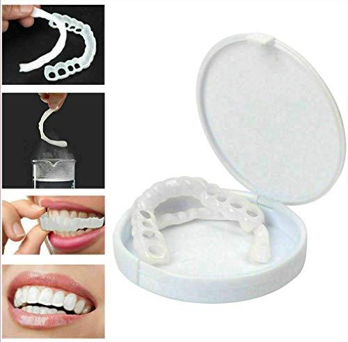 Moda 2 Pezzi Riutilizzabile Adulto Fiducioso Snap on Smile Comfort Fit Flex Denti Cosmetici Denti Protesi Impiallacciatura cosmetica Superiore