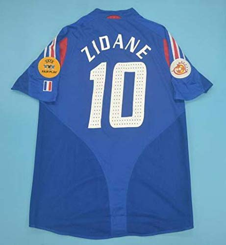 FM Zinedine Zidane#10 France Home Retro Jersey 2004 Full Patch (L)