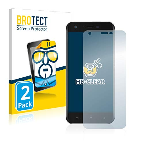 BROTECT Protector Pantalla Compatible con Blackview A7 Pro Protector Transparente (2 Unidades) Anti-Huellas