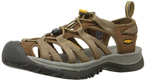 KEEN Womens Whisper Sandal,Coffee Liqueur/Yellow,8.5 M US