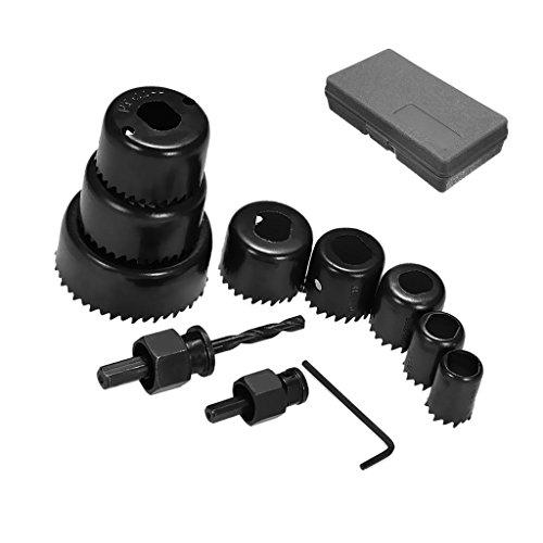 NUZAMAS - Juego de 11 sierras perforadoras de 19 mm a 64 mm, cortadoras de yeso, madera, yeso, plástico, placas de yeso y otros materiales blandos, sierras con caja de herramientas