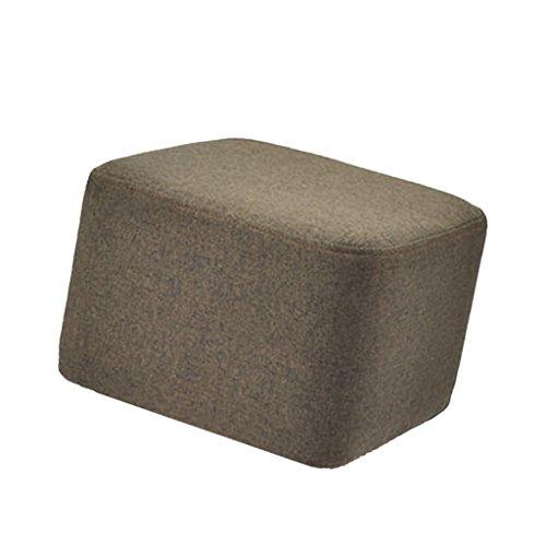 non-brand Quadratische Elastische Stretch Stuhlhussen Stuhlbezug für Hocker Stuhl - Kaffee