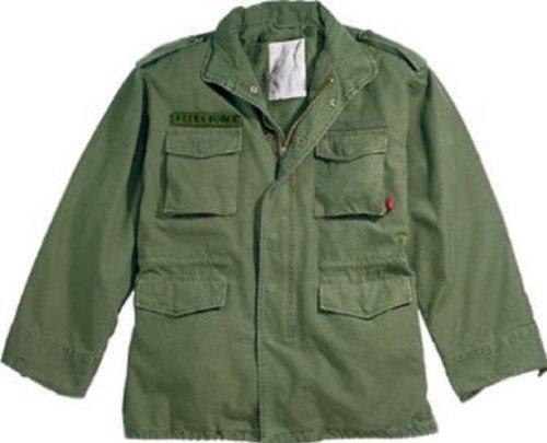 Olive Drab Military Vintage M-65 Field Jacket 8603 Size Medium