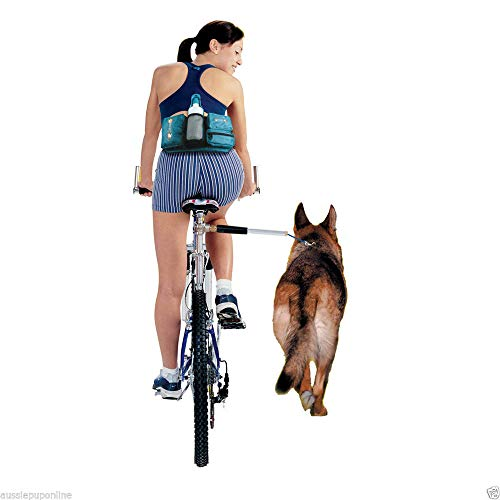 XIALIUXIA Fahrradhalter Für Den Hund,Hands Free Hunde Fahrrad Exerciser Leash,Heavy Duty Hunde Fahrradbefestigung,Fahrradleine Aus Edelstahl