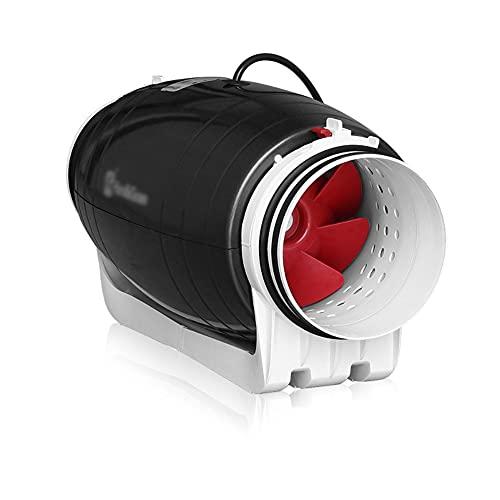 Yousiju Ventilador de conducto silencioso de 6 `` 110 V 220 V potente ventilador de escape de flujo mixto para campana de cocina Ventilación extractora de aire