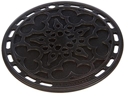 Le Creuset Salvamanteles French, Silicona, Resistente al calor hasta 250 grados Celsius, diámetro 20 cm, Negro Onyx