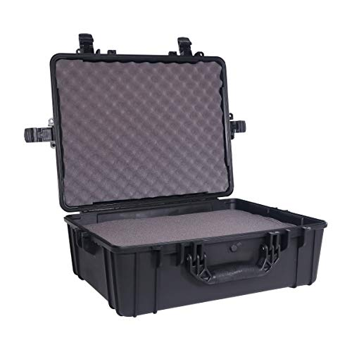 Condition 1 25' XL Waterproof Protective Hard Case with Foam, Black - 25' x 20' x 8' #839 IP67 Watertight Dust Proof and Shock Proof TSA Approved Portable Trunk Carrier