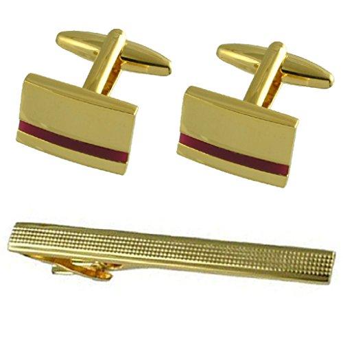 Boutons de manchette or améthyste violette cadeau cravate avec 65mm