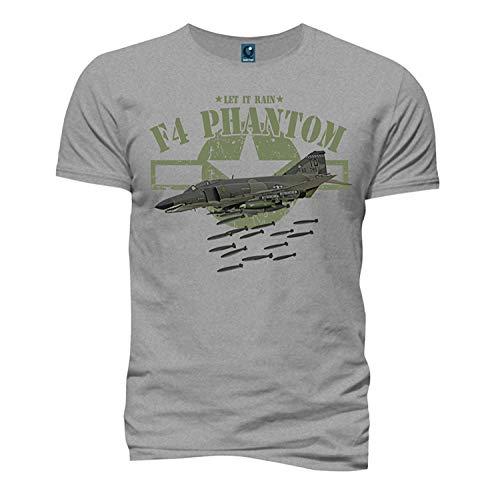 Quaint Point F4 Phantom Flugzeug Herren T-Shirt KSM26 (XXL)