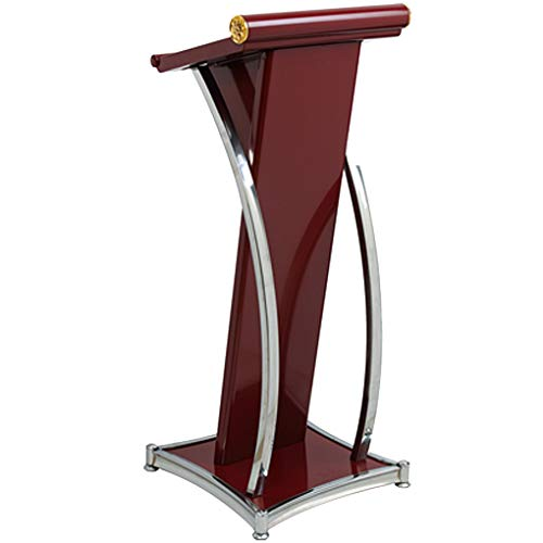 Lectern Stainless Steel Arc Lectern Stand Angled Desktop Design Fine And Smooth Texture Surface Paint Process For Waterproof And Sun Exposure Standing Podium
