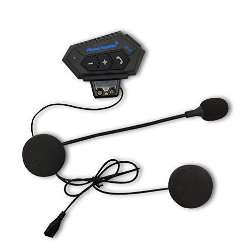 Kit mains libres Bluetooth 4.1 pour casque de moto avec interphone