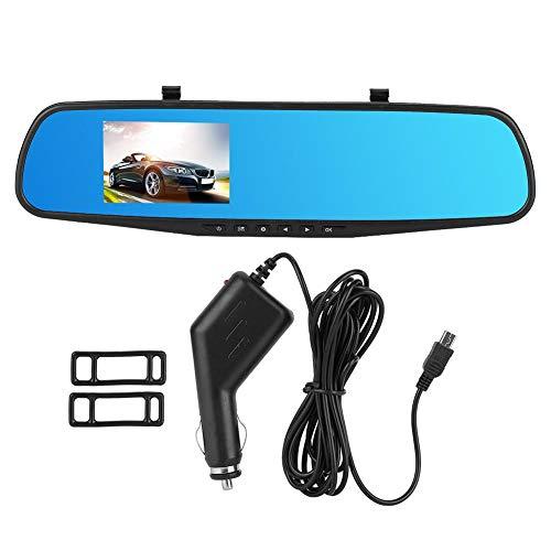 Qiilu Driving Recorder, 2.8inch 1080P Car DVR Specchietto retrovisore Driving Recorder Monitoraggio movimento telecamera