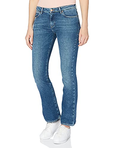 Wrangler Jeans Bootcut, Blu Yucca, 25W / 32L Donna