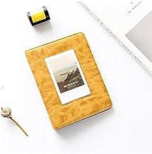 Camera/Video Bags - Retro Photo Album 32 Pockets 5 Inch Photo Book Mini Album Book Film Storage Picture Bag for for Fujifilm Instax Wide 300, 210 Films (Yellow)