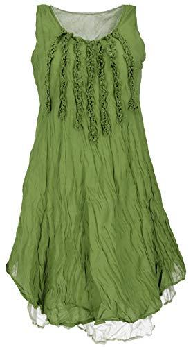 GURU SHOP Vestido de punto de cangrejo, vestido minivestido, vestido de verano, vestido de playa, para mujer, violeta, algodón, talla: 40, ropa alternativa Limón. 42