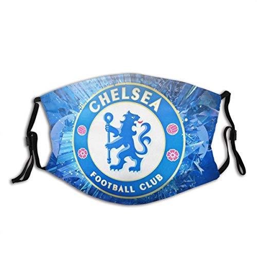 GABRI Mundschutz Gesichtsschutz Chelsea Football Team Logo 6 Antistaub Waschbar und Wiederverwendbar Bandana mit Filtern