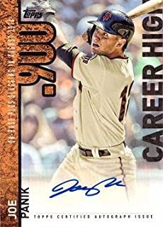 2015 Topps Career High Autographs #CH-JPA Joe Panik Certified Autograph Baseball Card - Near Mint to Mint