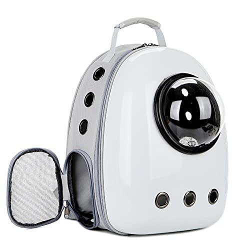 TIANLU Portador de viaje portátil para mascotas, mochila Space Capsule Pet Cat Bubble, mochila de viajero impermeable para gatos y perros pequeños, varios colores para elegir-# 3-blanco