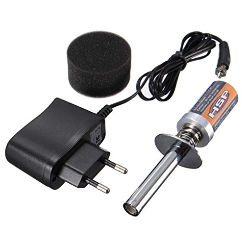 Quickbuying HSP RC Nitro 1.2 V 1800MAH RECHARGEABLE GLOW PLUG starter Igniter AC Charger for Gas Nitro Engine Power 1/10 1/8 RC Car