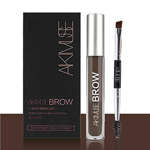 ROMANTIC BEAR Wasserfest Augenbrauen Farben Gel Mit Pinsel Set,Anti-discoloration Eyebrow Gel,BLACKBROWN