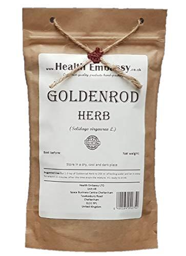 Health Embassy Gewöhnliche Goldrute Kraut Tee (Solidago virgaurea L) / Goldenrod Herb Tea, 50g