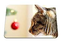 22cmx18cm マウスパッド (猫の銃口のケアクリスマスのおもちゃプロフィールを見る) パターンカスタムの マウスパッド