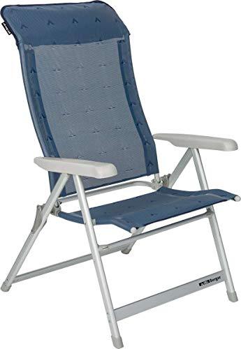Berger Klappsessel XL, blau, Aluminium, Belastbar bis 200 kg, breite Sitzfläche 57 cm, Klappstuhl, Campingstuhl