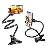 Gooseneck Phone Holder, SLBSTORES Lazy Bracket Holder 360° Swivel for iPhone and Other Smart Phones for Bedroom, Office, Bathroom, Kitchen, Black