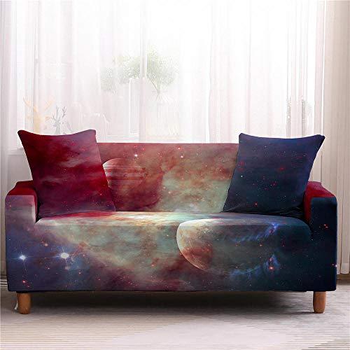 Funda Elástica De Sofá Funda Fundas para Sofá Universe Fundas para Sofá con Todo Incluido Funda para Sofá Starry Planet Funda para Sofá-3 Plazas_Color4